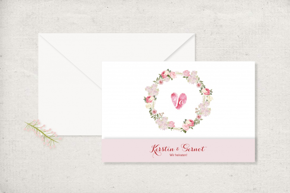 Einladung Blumen